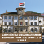 A CNT consegue unha nova sentenza favorable por cantidades fronte ao Concello de Muros